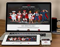 Site Web Devenez un héros