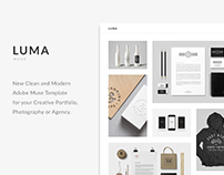 LUMA - Creative Minimal Portfolio Adobe Muse Template