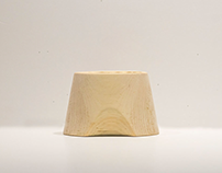 Wooden pencil cup