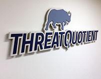 Wood Sculpture: ThreatQuotient Office Sign