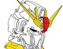 Gundam technical illustration