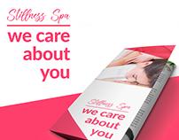 Stillness Spa - Triptico y tarjetas de presentación