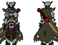 Concept Art - Warrior, Armors and Weapons