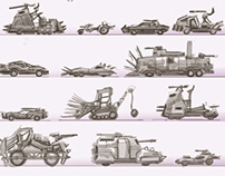 postapocalyptic vehicles