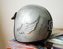 Jet Helmet with 3D printed decorations