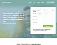 Suits financial Webpage redesign Concept
