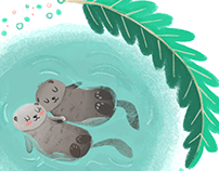 Otters love·Ilustration·
