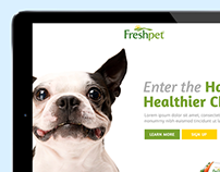 FreshPet Affinity Site Landing Page