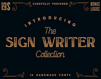 The Sign Writer Font Collection (+ FREE FONT)