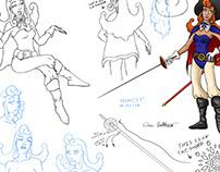 Pirate Captain Violet Concept Sheet