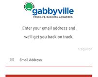 Gabbyville mobile app prototype