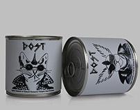 """DOST"" Cat and Dog Food Label Design"