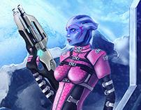Mass Effect Fan Art — Asari Spec Ops Squad