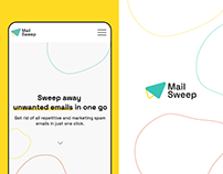 MailSweep logo & landing page design and development