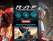 RAF. MMOFPS. Landing page.