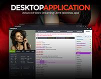 Desktop Video Streaming Application Design