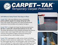 Sell Sheet: Carpet–Tak