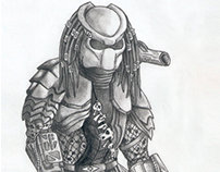 AVP Predator | pencil drawing | 2009
