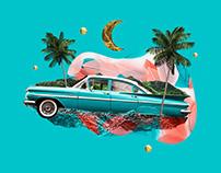Collage Illustration Surrealist Travels