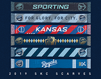 Sporting KC Scarves - 2019 Season - Updated April 9