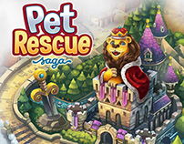 Pet Rescue Saga - World Map Art