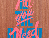 All you need - is the beach. Screenprint