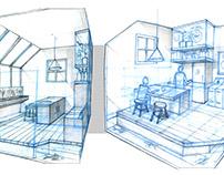 Visualizing an Aquaponic Kitchen