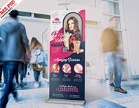 Beauty Salon Advertising Roll Up Banner PSD