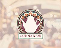 Cafe Nouveau Logo Design