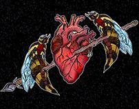 Avispas y corazón
