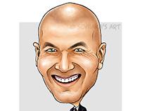 Zinedine Zidane caricature