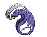 """DRAGON"" logo designed for author."