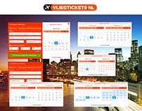 VLIEGTICKETS.NL - SEARCHBOX DESIGNS - A/B TESTS