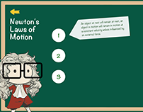 """Newton's laws of motion"" info graph design"