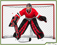 3D Model: Hockey Goalkeeper HQ 002