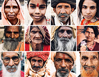 Portraits of Indian people