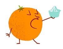 Ilustraciones para Naranjas Marisa