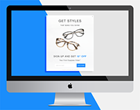 AC Lens Email Sign Up Pop Up for Eyeglasses/Sunglasses