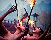 Chinese acrobatics and fire