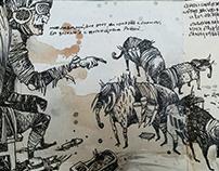 "sketchbook ""Elephants and Angels."""
