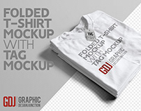 Free Folded T-Shirt Mockup Template