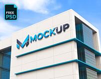 3D BUSINESS BUILDING LOGO MOCKUP - FREE PSD