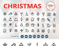 125 Christmas Line Icons