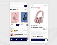 Headphones eCommerce App Design Concept