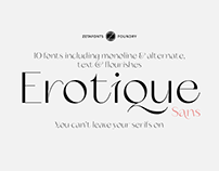 Erotique Sans Typeface - You can't leave your serifs on