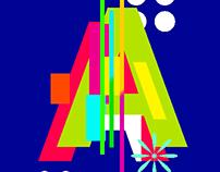 colourful vibrant alphabet poster design concept