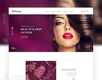 Beauty skin center redesign