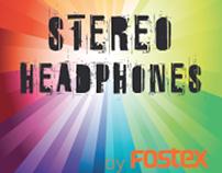 flyer for fostex headphones