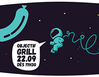 Save the date grill