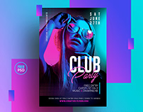 Free PSD Flyer Template for Night Club